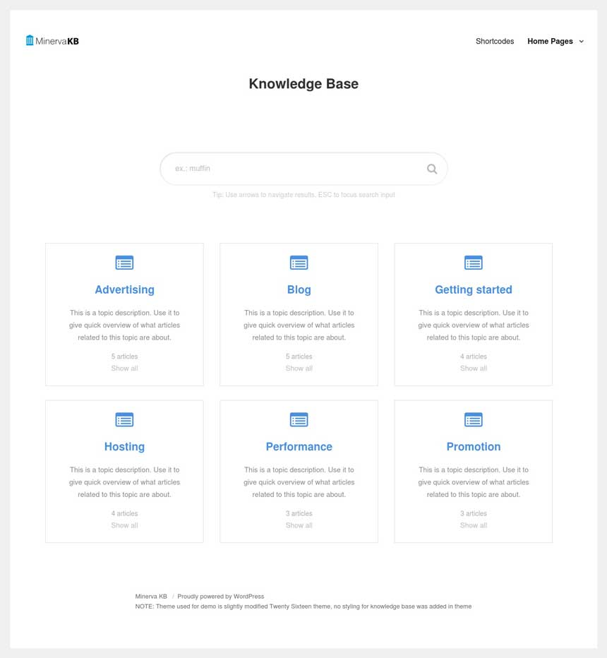 Classic Knowledge Base design