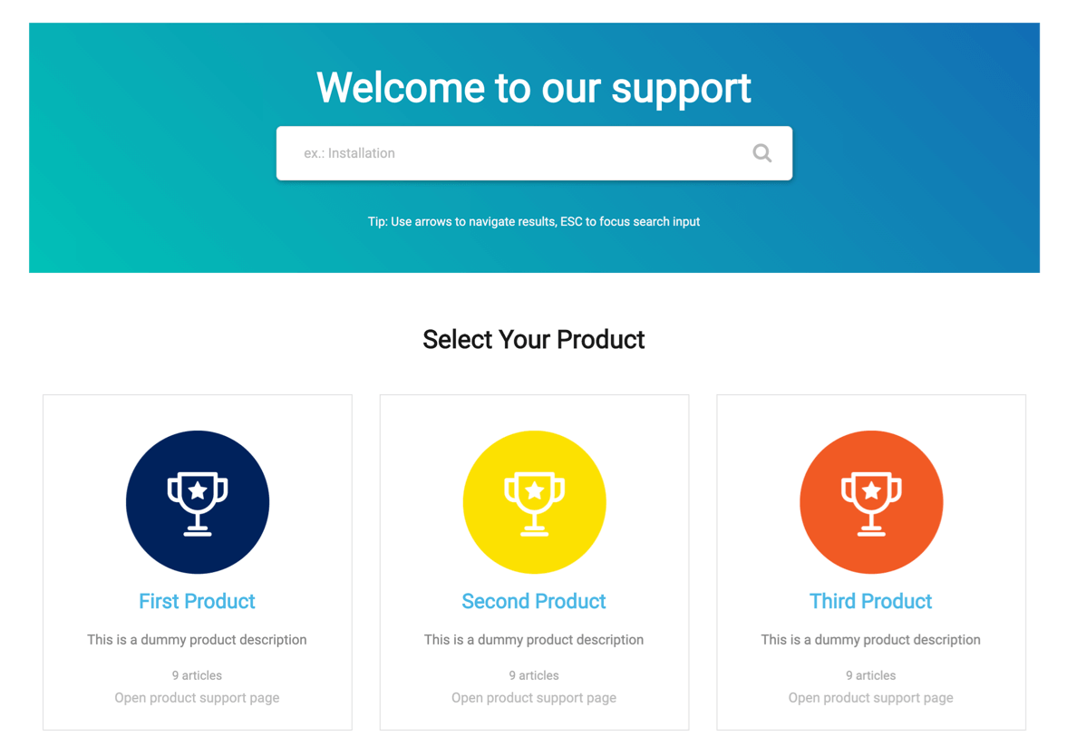 Create multi-product support hub with MinervaKB